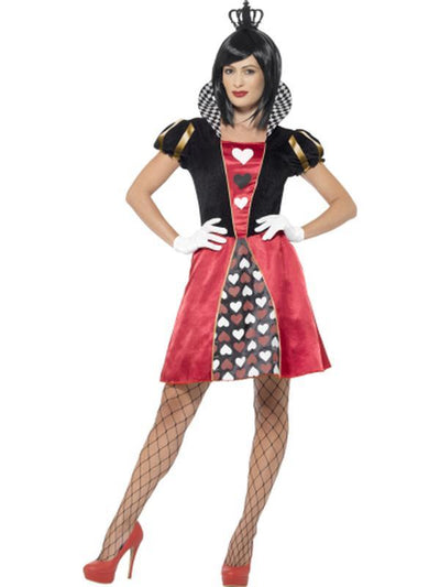 Carded Queen Costume,Red-Jokers Costume Mega Store