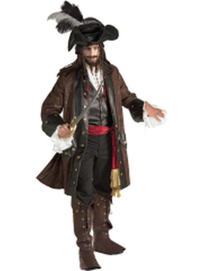 Caribbean Pirate Collector'S Edition - Size Xl-Costumes - Mens-Jokers Costume Hire and Sales Mega Store