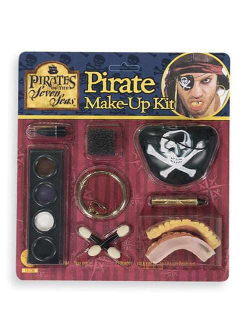Caribbean Pirate Make Up Kit-Make up and Special FX-Jokers Costume Hire and Sales Mega Store