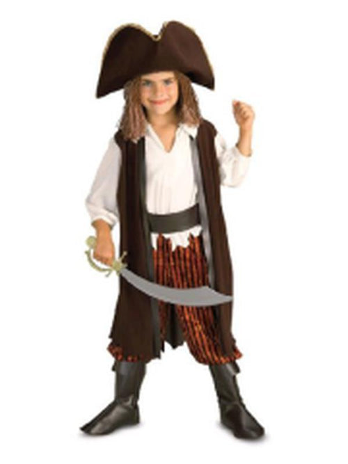 Caribbean Pirate - Size S (Was 11739S)-Costumes - Boys-Jokers Costume Hire and Sales Mega Store