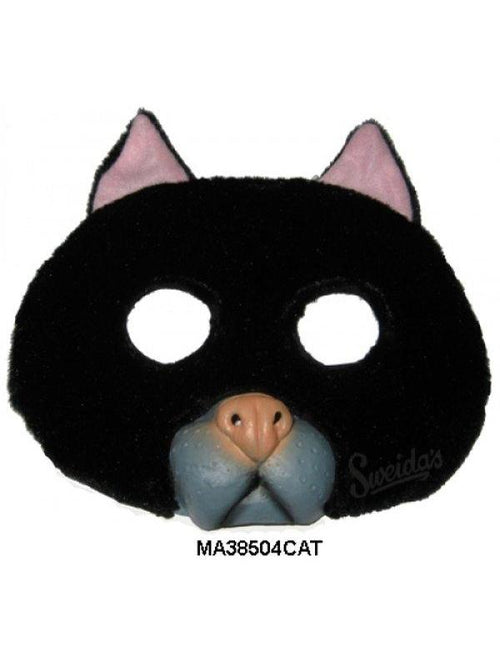 Cat 1/2 Mask-Masks - Animal-Jokers Costume Hire and Sales Mega Store
