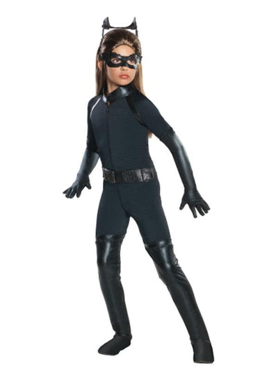 Catwoman Deluxe Child - Size M-Costumes - Girls-Jokers Costume Hire and Sales Mega Store