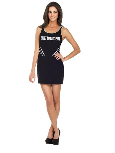 Catwoman Tank Dress - Size L-Costumes - Women-Jokers Costume Hire and Sales Mega Store