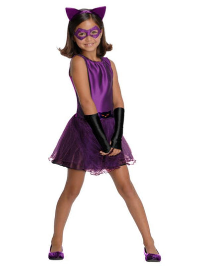 Catwoman Tutu Costume - Size M-Costumes - Girls-Jokers Costume Hire and Sales Mega Store