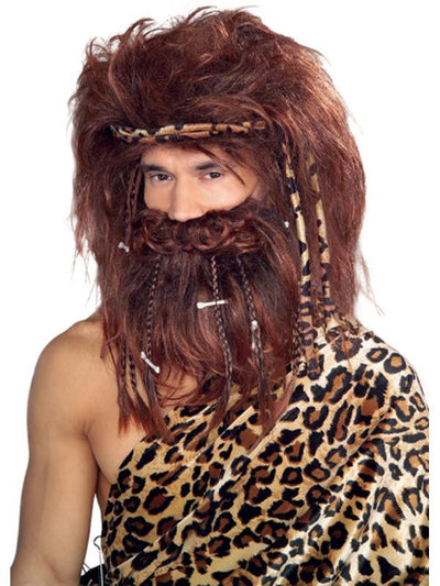 Caveman Wig & Beard Adult-Wigs-Jokers Costume Hire and Sales Mega Store