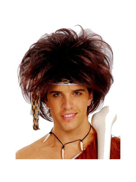 Caveman Wig - Brown-Wigs-Jokers Costume Hire and Sales Mega Store