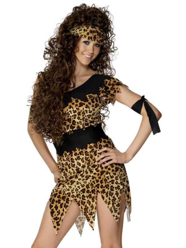 Cavewoman Costume, Black and Brown-Costumes - Women-Jokers Costume Hire and Sales Mega Store