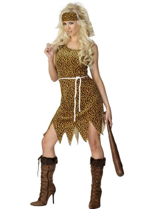 Cavewoman Costume,Velour-Costumes - Women-Jokers Costume Hire and Sales Mega Store