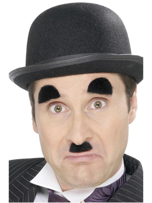 Chaplin Tash and Eyebrows-Beards and Moustaches-Jokers Costume Hire and Sales Mega Store