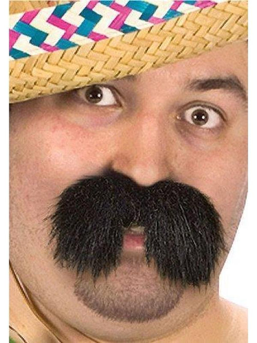 Character Mustache - Bandido-Beards and Moustaches-Jokers Costume Hire and Sales Mega Store