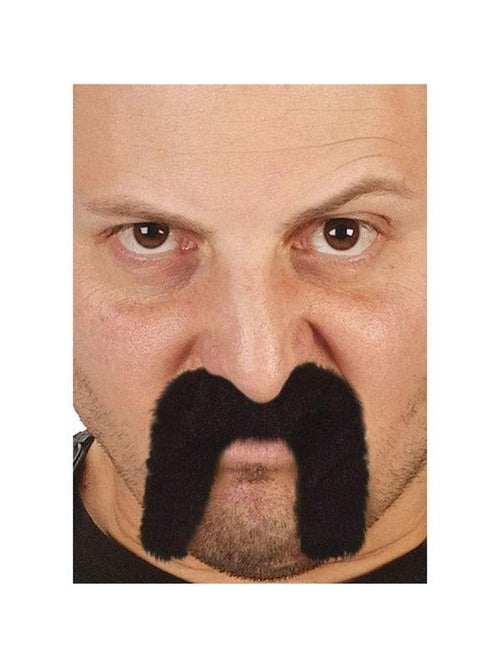 Character Mustache - Biker Dude-Beards and Moustaches-Jokers Costume Hire and Sales Mega Store