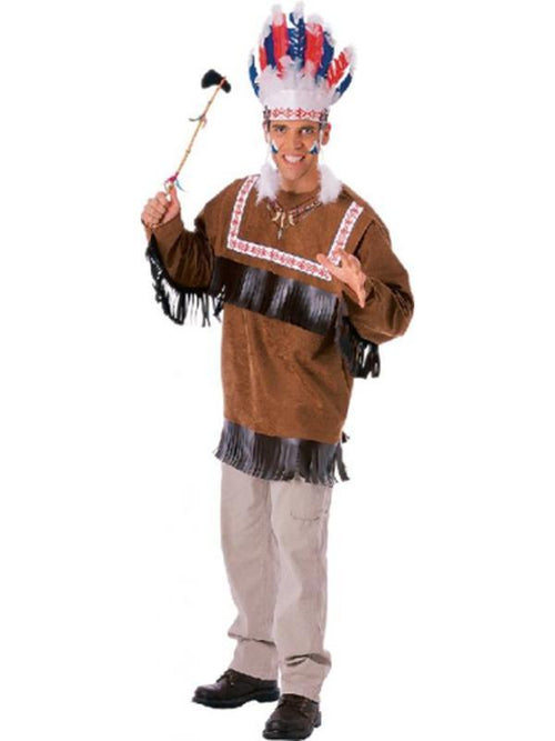Cherokee Warrior Costume - Size Std-Costumes - Mens-Jokers Costume Hire and Sales Mega Store