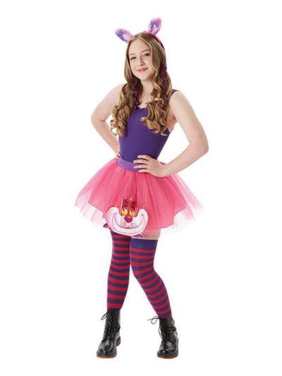 Cheshire Cat Tutu & Accessories Set - Size S-Costumes - Women-Jokers Costume Hire and Sales Mega Store