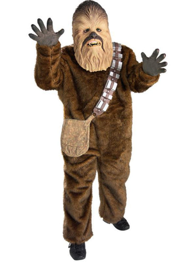 Chewbacca Deluxe Costume Child - Size L-Costumes - Boys-Jokers Costume Hire and Sales Mega Store