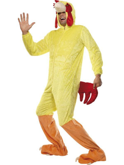 Chicken Costume, Jumpsuit-Costumes - Mens-Jokers Costume Hire and Sales Mega Store