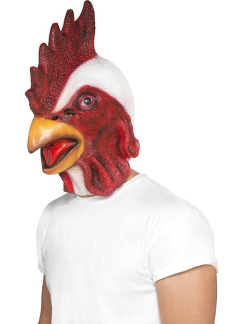 Chicken Mask-Masks - Animal-Jokers Costume Hire and Sales Mega Store