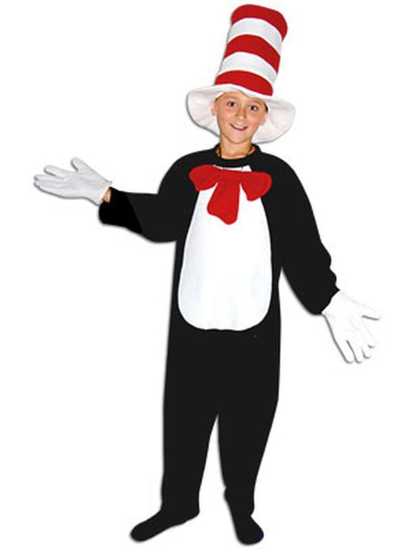 Child Onesie - Cat with Hat - Large-Jokers Costume Mega Store