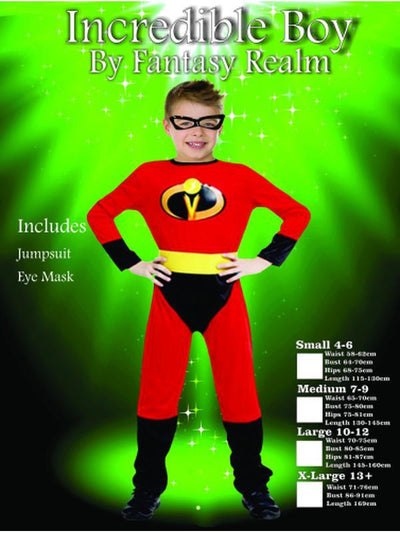 Children's Incredible Boy Costume-Costumes - Boys-Jokers Costume Hire and Sales Mega Store