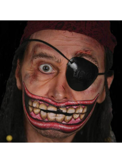 Chipped Big Mouth Temporary Tattoo x 2-Make up and Special FX-Jokers Costume Hire and Sales Mega Store