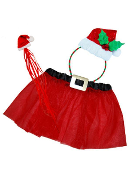 Christmas Dress-Up Set - Santa Fairy-Costumes - Women-Jokers Costume Hire and Sales Mega Store