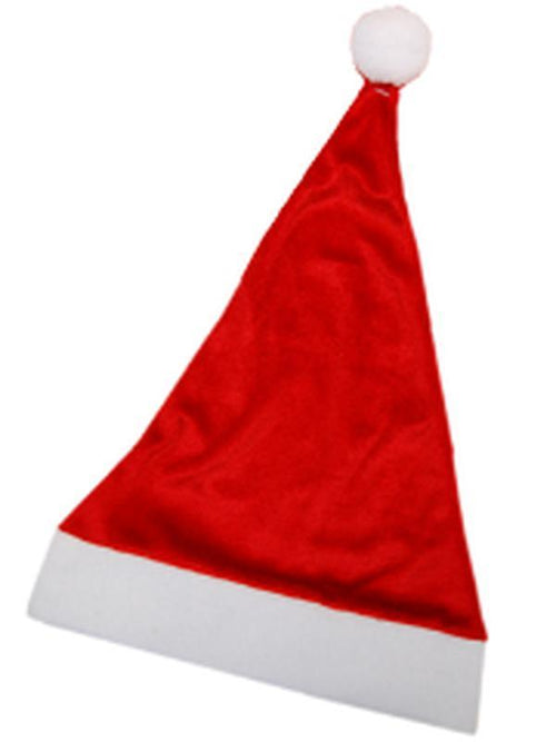 Christmas Santa Hat - Budget-Costume Accessories-Jokers Costume Hire and Sales Mega Store