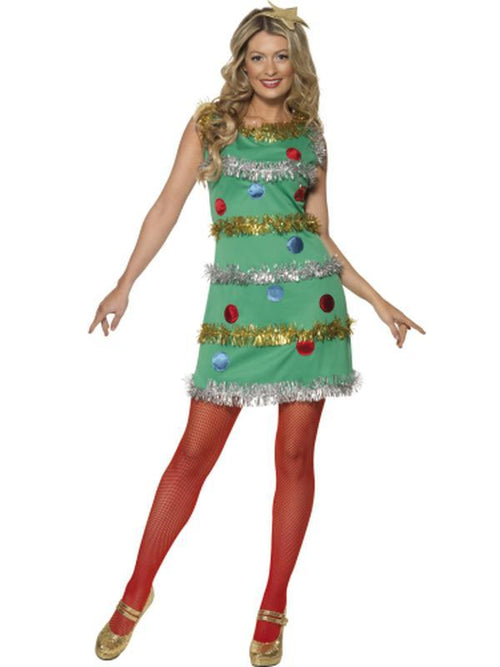 Christmas Tree Costume with Dress & Headband-Costumes - Women-Jokers Costume Hire and Sales Mega Store