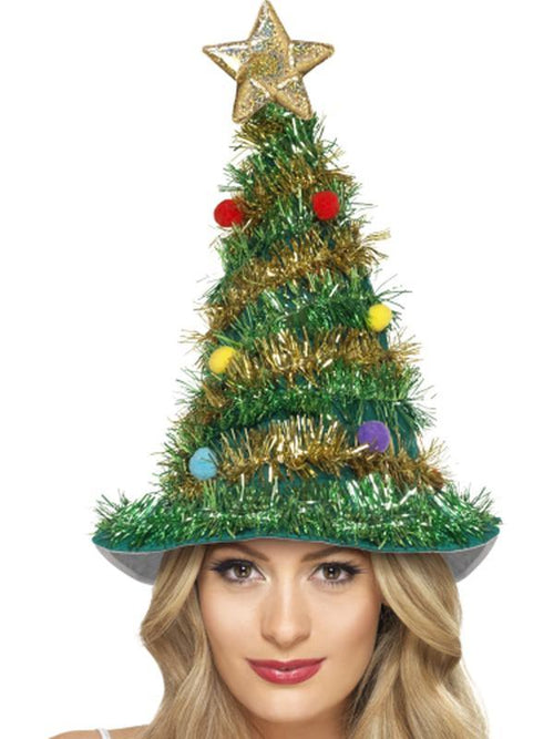 Christmas Tree Hat-Hats and Headwear-Jokers Costume Hire and Sales Mega Store