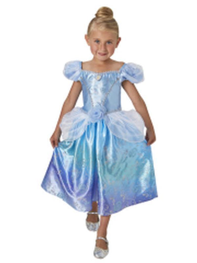 Cinderella Rainbow Deluxe Costume - Size 6-8-Costumes - Girls-Jokers Costume Hire and Sales Mega Store
