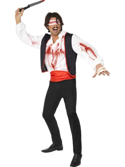 Cirque Sinister Knife Thrower Costume-Costumes - Mens-Jokers Costume Hire and Sales Mega Store