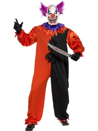 Cirque Sinister Scary Bo Bo the Clown Costume-Costumes - Mens-Jokers Costume Hire and Sales Mega Store