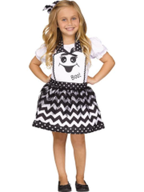 Classic Girls Instant Apron - Ghost-Costumes - Girls-Jokers Costume Hire and Sales Mega Store