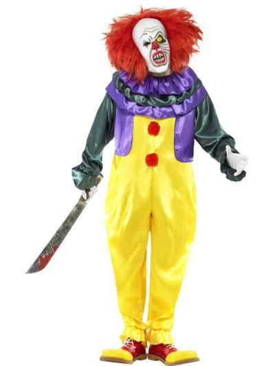 Classic Horror Clown Costume-Costumes - Mens-Jokers Costume Hire and Sales Mega Store