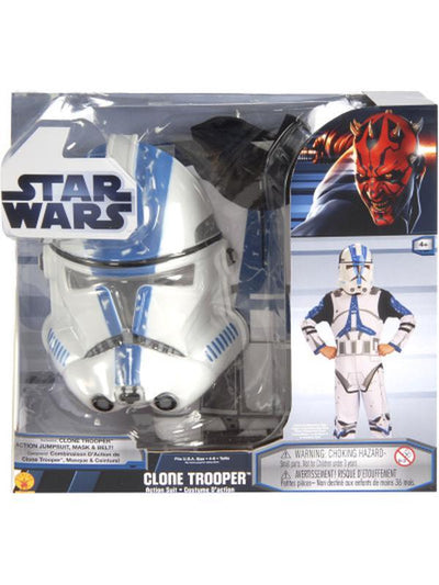 Clone Trooper Action Suit Boxed - Size M-Costumes - Boys-Jokers Costume Hire and Sales Mega Store