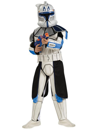 Clone Trooper Captain Rex Child Deluxe - Size M-Costumes - Boys-Jokers Costume Hire and Sales Mega Store