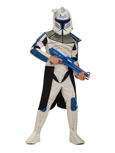 Clone Trooper Captain Rex Child - Size L-Costumes - Boys-Jokers Costume Hire and Sales Mega Store
