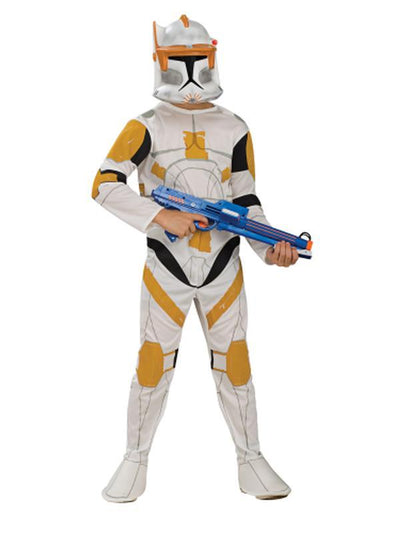 Clone Trooper Commander Cody Child - Size M-Costumes - Boys-Jokers Costume Hire and Sales Mega Store