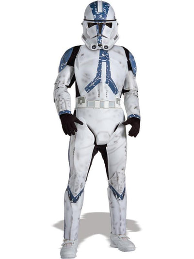 Clone Trooper Jumpsuit Child - Size M-Costumes - Boys-Jokers Costume Hire and Sales Mega Store