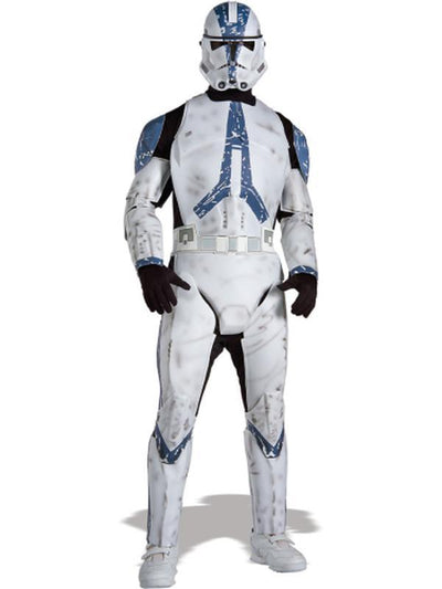 Clonetrooper Adult Deluxe - Size Xl-Costumes - Mens-Jokers Costume Hire and Sales Mega Store