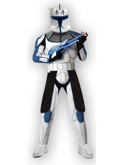 Clonetrooper Captain Rex Deluxe Adult - Size Std-Costumes - Mens-Jokers Costume Hire and Sales Mega Store