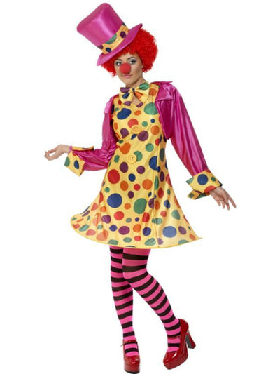 Clown Lady Costume, Multi-Coloured-Costumes - Women-Jokers Costume Hire and Sales Mega Store