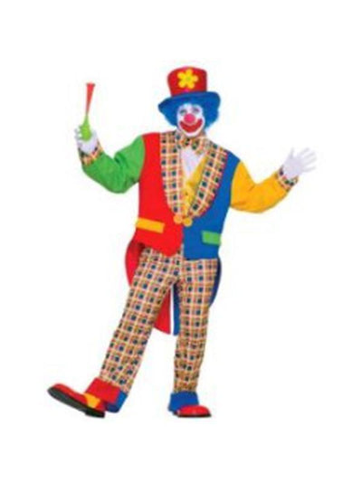 Clown On The Town Costume - Size Std-Costumes - Mens-Jokers Costume Hire and Sales Mega Store
