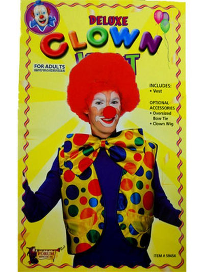 Clown Vest - Multi Coloured-Costumes - Mens-Jokers Costume Hire and Sales Mega Store