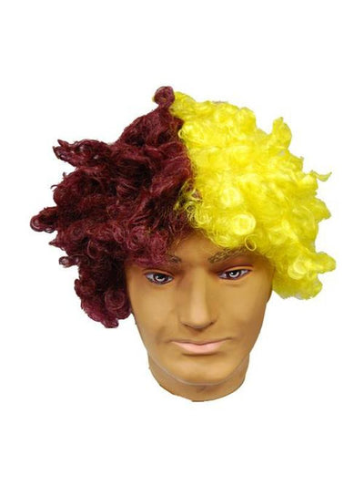 Clown Wig - Maroon & Gold-Wigs-Jokers Costume Hire and Sales Mega Store