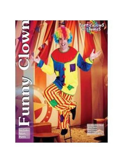 Clown-Costumes - Mens-Jokers Costume Hire and Sales Mega Store
