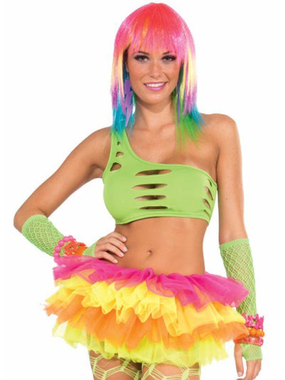 Club Candy Cut Bra - Green-Costume Accessories-Jokers Costume Hire and Sales Mega Store