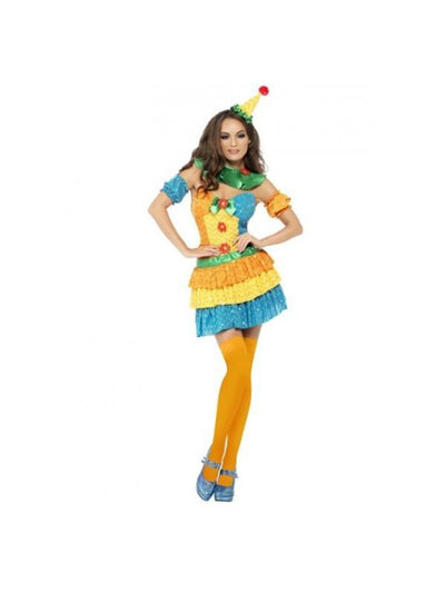 Colourful Clown Cutie Costume-Costumes - Women-Jokers Costume Hire and Sales Mega Store