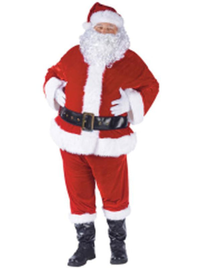 Complete Velour Santa Suit - Adult-Costumes - Mens-Jokers Costume Hire and Sales Mega Store