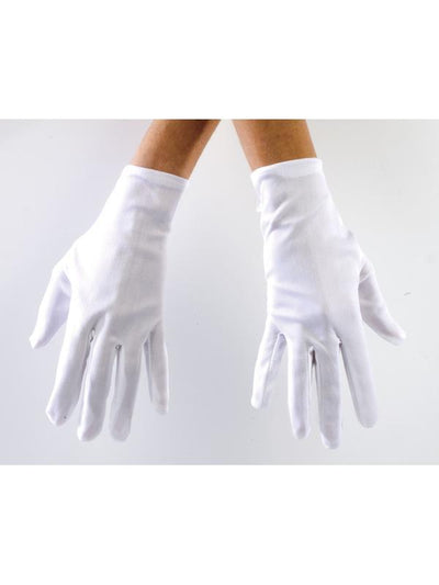 Costume Gloves - White-Armwear-Jokers Costume Hire and Sales Mega Store