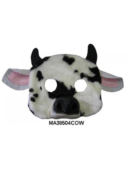 Cow 1/2 Mask-Masks - Animal-Jokers Costume Hire and Sales Mega Store
