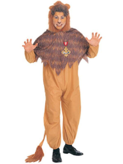 Cowardly Lion Adult - Size Std-Costumes - Mens-Jokers Costume Hire and Sales Mega Store